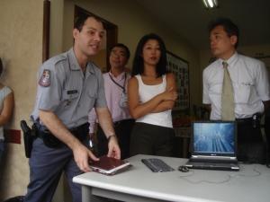 Visita de policiais japoneses a santos.