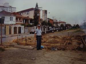 Início da construção da Base Comunitária do Campo Grande,em 1999.