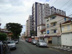 Rua Visconde de Cairú, observa Rua Carvalho de Mendonça, Edifício comercial Serra do Mar.