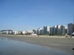 Céu de brigadeiro na Praia do Gonzaga.