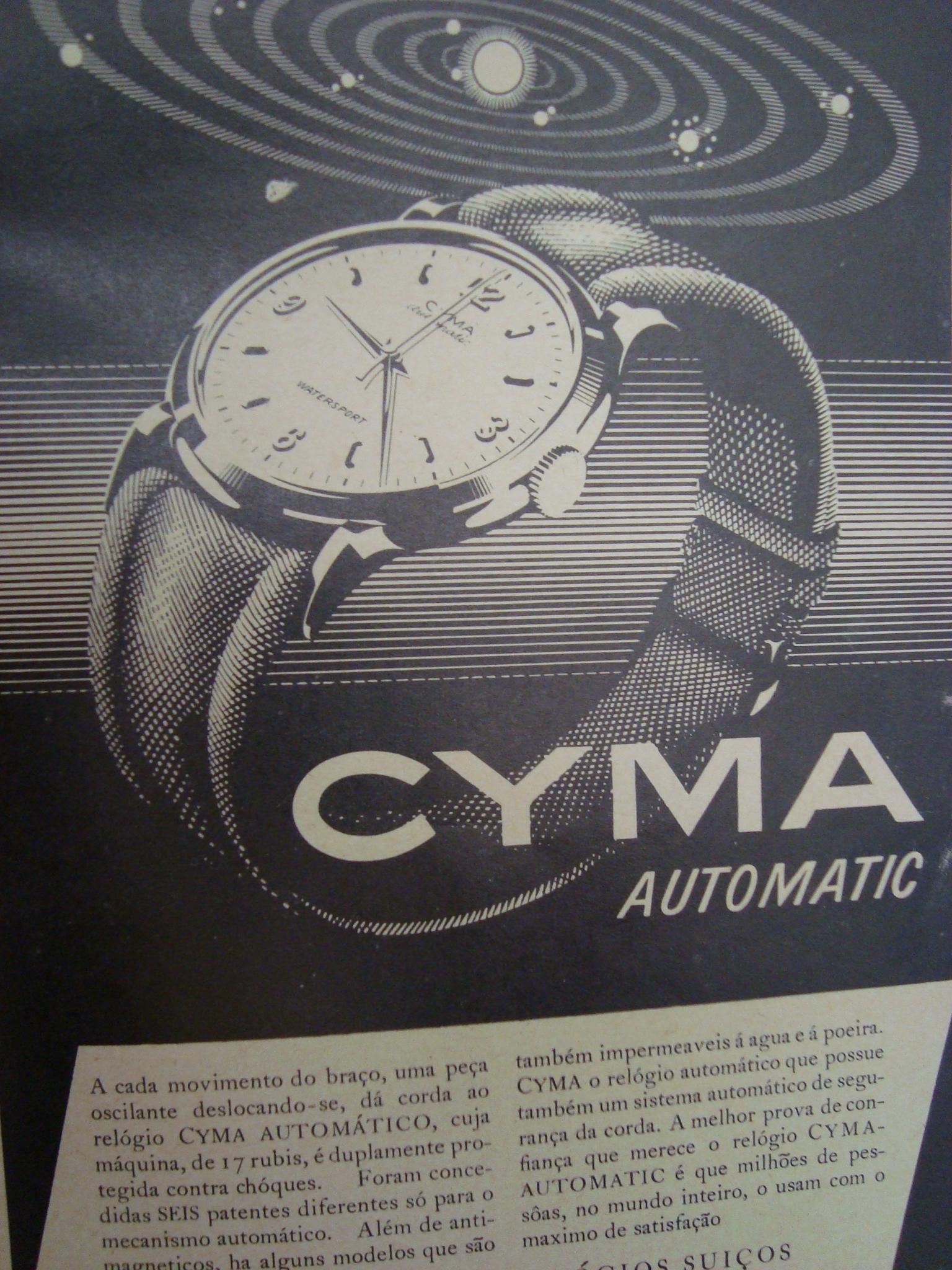 b72791d393f Relógio Cyma.Um sistema de contra peso. peso a um eixo central