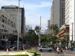 Avenida Ana Costa no Gonzaga.