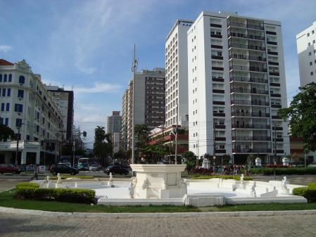 Visão da Avenida Ana Costa,da Fonte Luminosa.