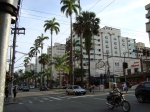 Avenida Ana Costa, imedições do antigo Cine Praia Palace.