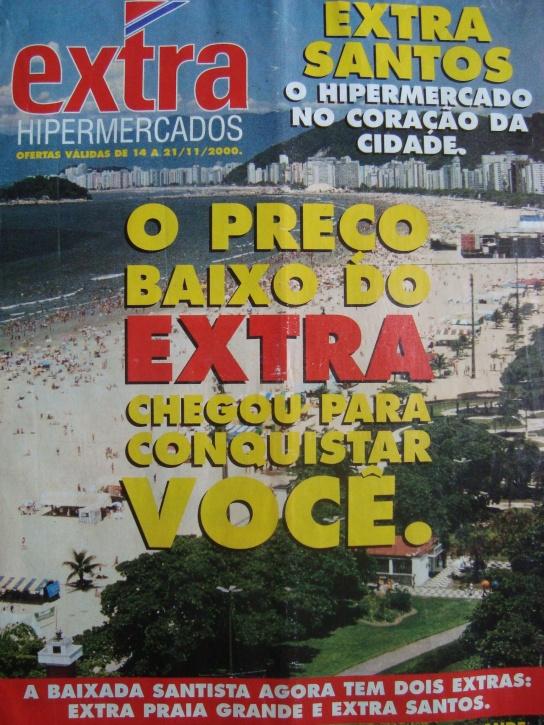 O caderno de inauguração do Hipermercado Extra,em Santos,14/11/2000.